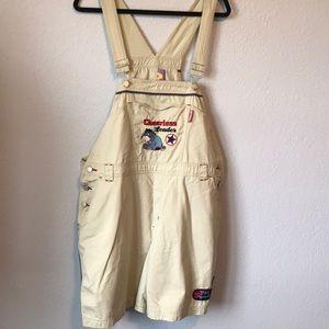 Vintage Disney Eeyore bib overalls oversized
